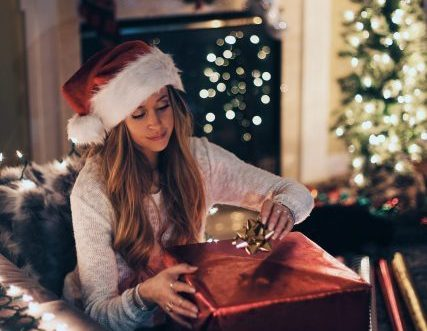 クリスマスの女性